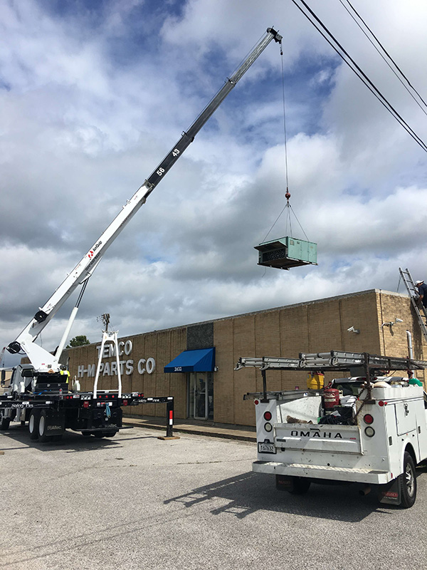 15 Ton replacement with crane