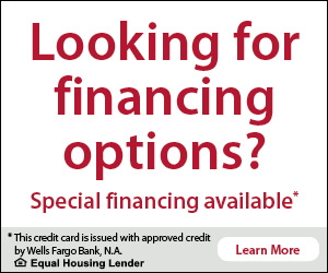 Looking for financing options? Special Financing available from Wells Fargo. Click to learn more